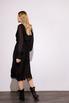 Шелковое платье миди черного цвета с расклешенной юбкой в прокат и аренду в Киеве. Фото 5