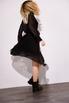 Шелковое платье миди черного цвета с расклешенной юбкой в прокат и аренду в Киеве. Фото 6