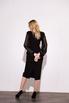 Черное платье футляр длины миди с рукавами из органзы в прокат и аренду в Киеве. Фото 5