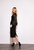 Черное платье футляр длины миди с рукавами из органзы в прокат и аренду в Киеве. Фото 6