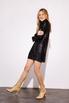 Платье мини свободного кроя с длинным рукавом в черную матовую пайетку в прокат и аренду в Киеве. Фото 4