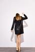 Платье мини свободного кроя с длинным рукавом в черную матовую пайетку в прокат и аренду в Киеве. Фото 5