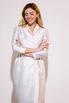 Платье футляр длины миди на запах жемчужного цвета с принтованой подкладкой в прокат и аренду в Киеве. Фото 3