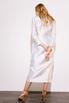 Платье футляр длины миди на запах жемчужного цвета с принтованой подкладкой в прокат и аренду в Киеве. Фото 5