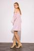Платье мини пудрового цвета с рукавами из органзы в прокат и аренду в Киеве. Фото 3