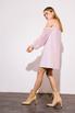 Платье мини пудрового цвета с рукавами из органзы в прокат и аренду в Киеве. Фото 4