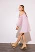 Платье мини пудрового цвета с рукавами из органзы в прокат и аренду в Киеве. Фото 5