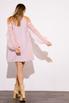 Платье мини пудрового цвета с рукавами из органзы в прокат и аренду в Киеве. Фото 6