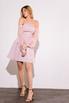 Платье-бюстье мини с рукавами из органзы розового цвета в прокат и аренду в Киеве. Фото 2