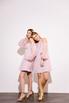 Платье-бюстье мини с рукавами из органзы розового цвета в прокат и аренду в Киеве. Фото 5