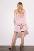 Платье-бюстье мини с рукавами из органзы розового цвета в прокат и аренду в Киеве. Фото 6