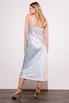 Серебряное платье комбинация длины миди из плотного шелка в прокат и аренду в Киеве. Фото 5