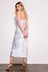Серебряное платье комбинация длины миди из плотного шелка в прокат и аренду в Киеве. Фото 6