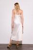 Кремовое платье комбинация длины миди из плотного шелка в прокат и аренду в Киеве. Фото 3