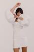Белое платье мини с объёмными рукавами в прокат и аренду в Киеве. Фото 2