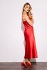 Красное платье комбинация длины миди из плотного шелка в прокат и аренду в Киеве. Фото 1