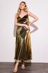 Бронзовое платье комбинация длины миди из плотного шелка в прокат и аренду в Киеве. Фото 2