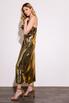 Бронзовое платье комбинация длины миди из плотного шелка в прокат и аренду в Киеве. Фото 4