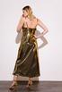 Бронзовое платье комбинация длины миди из плотного шелка в прокат и аренду в Киеве. Фото 5
