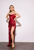 Шелковое платье-бюстье длины миди бордового цвета в прокат и аренду в Киеве. Фото 1