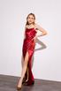 Шелковое платье-бюстье длины миди бордового цвета в прокат и аренду в Киеве. Фото 3