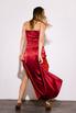 Шелковое платье-бюстье длины миди бордового цвета в прокат и аренду в Киеве. Фото 5