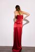 Шелковое платье-бюстье длины миди бордового цвета в прокат и аренду в Киеве. Фото 6