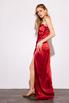 Шелковое платье-бюстье длины миди бордового цвета в прокат и аренду в Киеве. Фото 7