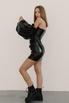 Чёрное платье мини с объёмными рукавами в прокат и аренду в Киеве. Фото 2