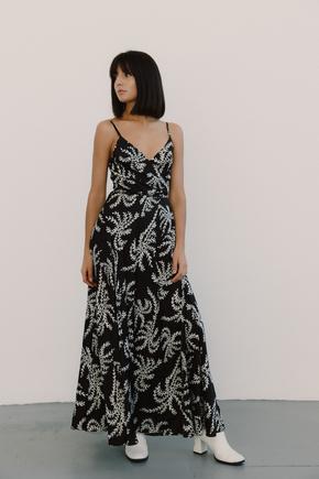 Шовкова чорно-біла сукня з принтом та запахом в прокат и oренду в Киiвi. Фото 2