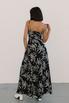 Шелковое черно-белое платье с принтом на запах в прокат и аренду в Киеве. Фото 4