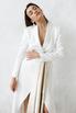 Белое длинное платье-фрак с декоративными драпировками в прокат и аренду в Киеве. Фото 6