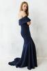 Платье бюстье со шлейфом синего цвета в прокат и аренду в Киеве. Фото 3