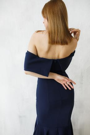 Сукня бюстьє зі шлейфом синього кольору в прокат и oренду в Киiвi. Фото 2