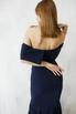 Платье бюстье со шлейфом синего цвета в прокат и аренду в Киеве. Фото 2