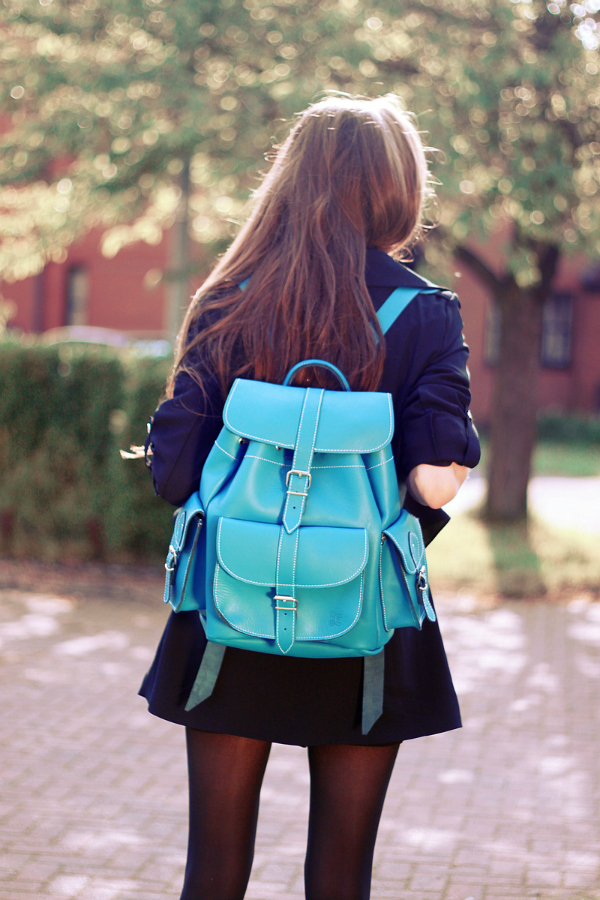 Бирюзовый рюкзак с чем носить рюкзак кегуру дискавери