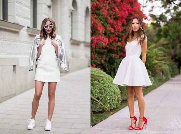 Белое платье для вечеринки