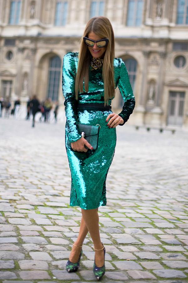 юбка с пайетками с чем носить: